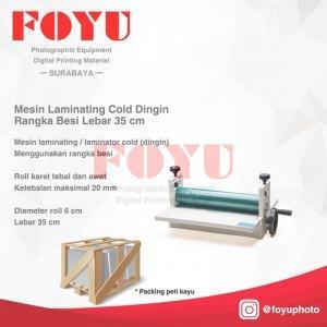 Mesin Laminating Cold Dingin Rangka Besi Lebar 35 cm