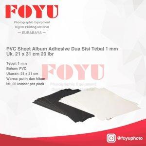 PVC Sheet Album Adhesive Dua Sisi Tebal 20 lbr