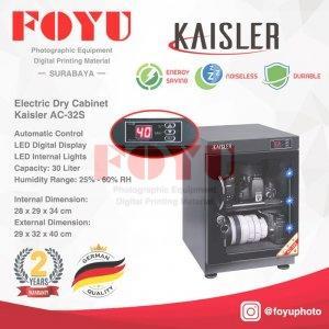 Dry Box Cabinet Lemari Kering Simpan Kamera 30 Liter Kaisler AC-32S