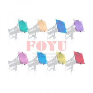 Colour Filter Gel Set Untuk Flash Dan LED Light 8 Warna 30 cm