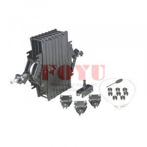Pantograph T2000 (2M) + Kanal U + 3 pcs Gantungan Kabel