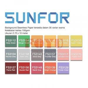 Background Paper Kertas Polos Seamless Sunfor Uk. 2,72 x 10 Meter FS Series B