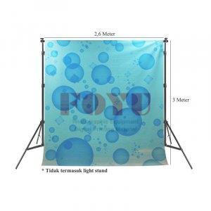 Background Inkjet Kain Printing Ukuran 2,6 x 3 Meter FY-014