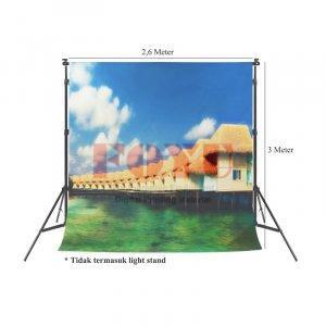 Background Inkjet Kain Printing Ukuran 2,6 x 3 Meter S-10414