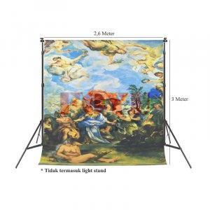 Background Inkjet Kain Printing Ukuran 2,6 x 3 Meter S-7343