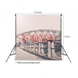 Background Inkjet Kain Printing Ukuran 2,6 x 3 Meter S-7742