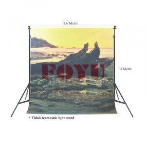 Background Inkjet Kain Printing Ukuran 2,6 x 3 Meter S-9053