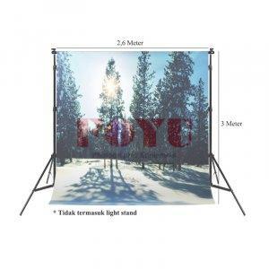 Background Inkjet Kain Printing Ukuran 2,6 x 3 Meter S-9921