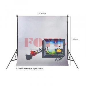 Background Inkjet 3D Kain Printing Ukuran 2,6 x 3 Meter TD-008