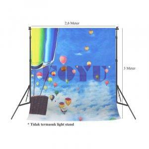 Background Inkjet 3D Kain Printing Ukuran 2,6 x 3 Meter TD-009