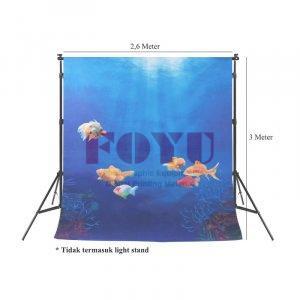 Background Inkjet 3D Kain Printing Ukuran 2,6 x 3 Meter TD-014