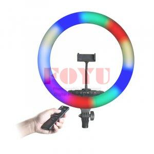 Professional LED RGB Color 18′ Ring Light With Wireless Remote Pro One R-65LC